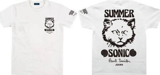今年も!サマソニ (SUMMER SONIC 2015) × ポール・スミス (Paul Smith)、コラボTシャツがチケット先行予約特典で貰える!