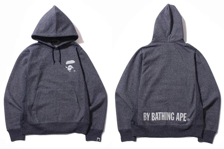 エイプからAPE FACEを左胸に配したプルオーバーフーディー「HEATHER GRAY APE FACE PULLOVER HOODIE」が8/29発売!(A BATHING APE)