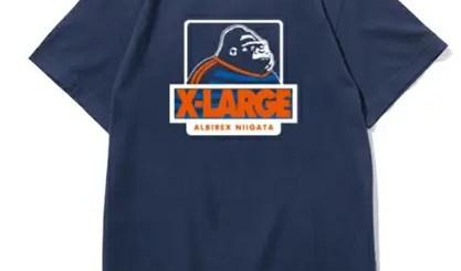 X-large × アルビレックス新潟コラボTEEが再び!今度はカップ戦Verのネイビー! (エクストララージ ALBIREX)