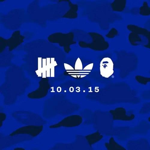 【速報】最強トリオがタッグ!adidas Originals × A BATHING APE × UNDEFEATED!10/3から展開!(アディダス オリジナルス エイプ アンディフィーテッド)
