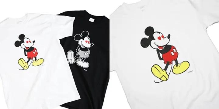 """10/3から先行予約!ミッキーのパンツにラメ加工を施したJAM HOME MADE × Disney 「LOVE """"MICKEY"""" Tee -WHITE-」 (ディズニー ジャムホームメイド)"""