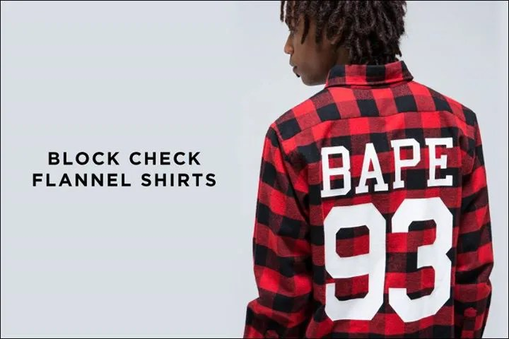 10/31からA BATHING APE 「箔プリント仕上げのFOIL BY BATHING APE CREWNECK」「BLOCK CHECK FLANNEL SHIRT」が発売! (エイプ)