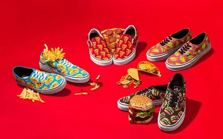 国内2/13発売!ヨダレが垂れそうな程美味しそうなピザ、ハンバーガー、マカロン、ドーナッツをイメージしたVANSのスニーカー「LATE NIGHT PACK」がリリース! (バンズ)