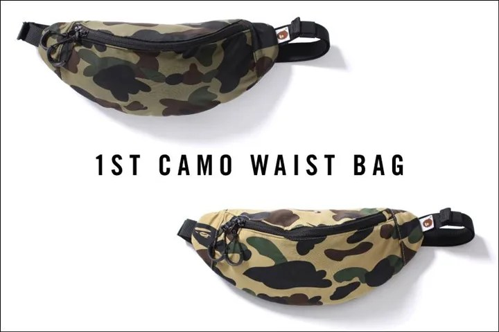 A BATHING APEからオリジナルパータンのウエストバッグ「1ST CAMO WAIST BAG」が2/6発売!(エイプ)