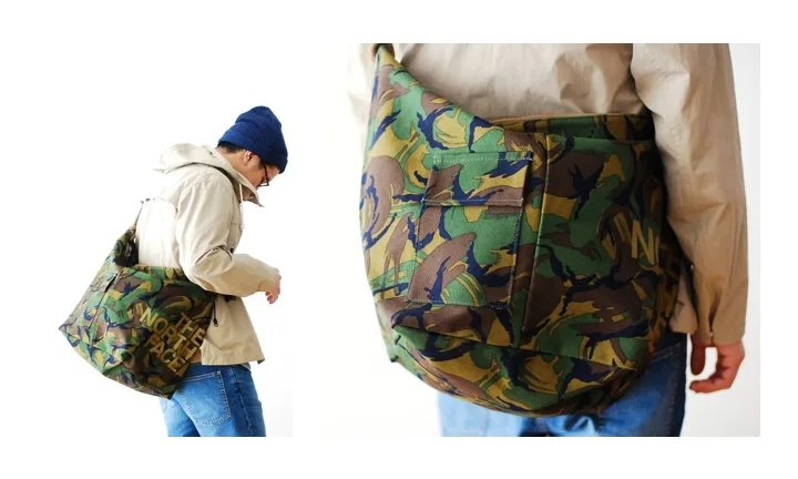 "【品切れ続出】ザ・ノースフェイス パープル レーベル ""Camouflage Cotton Canvas Shoulder Bag L""! (THE NORTH FACE PURPLE LABEL)"
