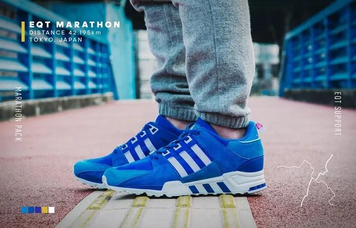 """2/27発売!鮮やかなブルーを纏ったadidas Originals TOKYO EQT Support 93 """"Marathon Series"""" (アディダス オリジナルス 東京 エキップメント サポート 93 マラソンシリーズ)"""
