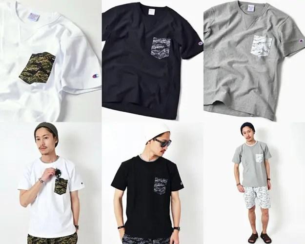 web限定!Champion × SHIPS タイガーカモ柄 ポケットTEEが3月中旬発売! (チャンピオン シップス)
