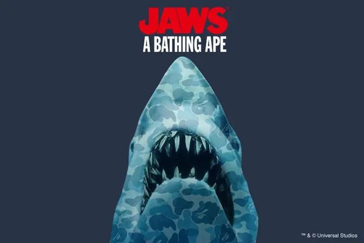 エイプ × 映画 ジョーズがコラボ!6/18から発売! (A BATHING APE JAWS)