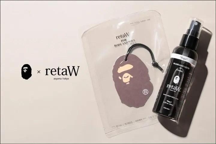 A BATHING APE × retaWのコラボで「Fabric Liquid」「Car Tag」が6/25から発売! (ア ベイシング エイプ リトゥ)