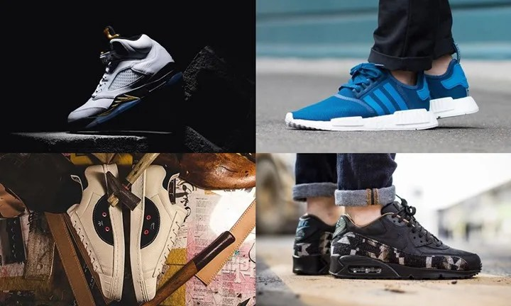 "【まとめ】8/20発売の厳選スニーカー!(NIKE AIR JORDAN 5 ""White/Metallic Gold"")(adidas Originals NMD_R1)(PENDLETON COLLECTION ""AIR MAX 1/90″ ""INTERNATIONALIST"")(kasina × adidas Consortium Tour SUPERSTAR 80s)他"