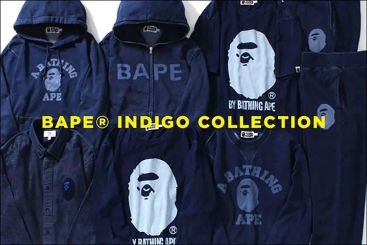 """A BATHING APE """"INDIGO COLLECTION"""" 最新作が8/20から発売! (エイプ """"インディゴ コレクション"""")"""