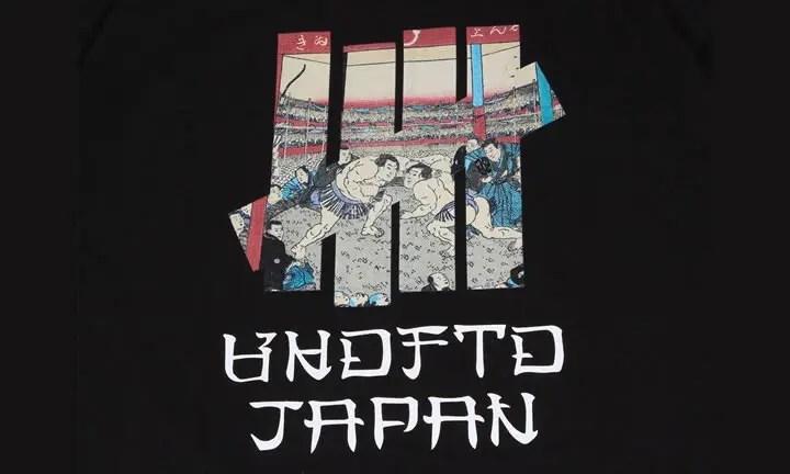 日本の国技「大相撲」のグラフィックを取り入れたUNDEFEATED UKIYOE SUMO S/SL TEEが9月上旬発売! (アンディフィーテッド 浮世絵 相撲)
