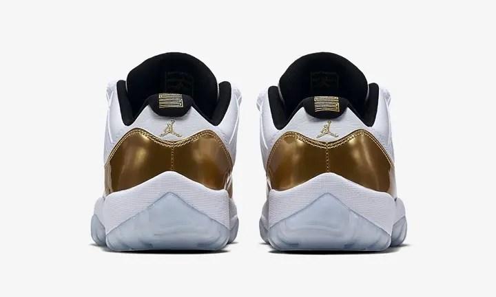 """【8/27発売】ナイキ エア ジョーダン 11 ロー """"ホワイト/メタリック ゴールド"""" (NIKE AIR JORDAN XI LOW """"White/Mettalic Gold"""") [528895-103]"""