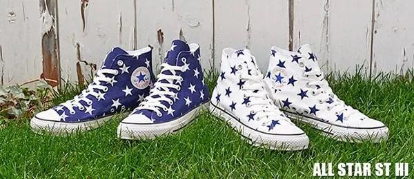 大きめの星柄をアッパー全面に落とし込んだCONVERSE ALL STAR ST HIが発売! (コンバース オールスター)