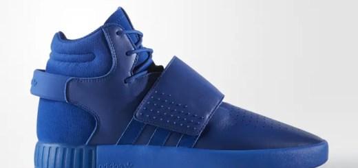"""アディダス オリジナルス チュブラー インベーダー ストラップ """"ブルー レザー"""" (adidas Originals TUBULAR INVADER STRAP """"Blue Leather"""") [BB8398]"""