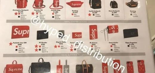 【リーク】シュプリーム (SUPREME) × ルイ・ヴィトン (Louis Vuitton)の価格!