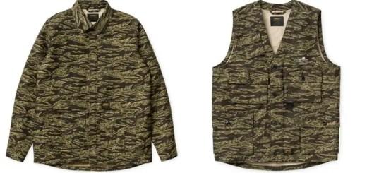 Carhartt 2017 S/S タイガーカモ柄のAnson Shirt Jacket/Utility Vestが3/4発売! (カーハート)