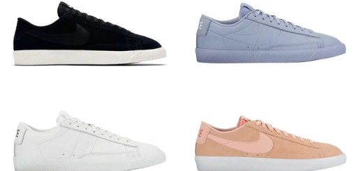 "ナイキ ブレーザー ロー 4カラー (NIKE BLAZER LOW ""Black/Glacier Grey/Summit White/Arctic Orange"") [371760-024,025,109,801]"