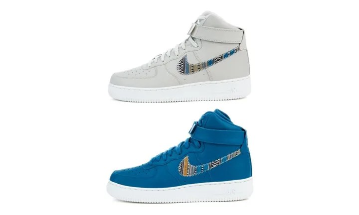 "ナイキ エア フォース 1 ハイ 07 エレベート (NIKE AIR FORCE 1 HIGH 07 LV8 ""Light Bone/Industrial Blue"") [806403-005,402]"