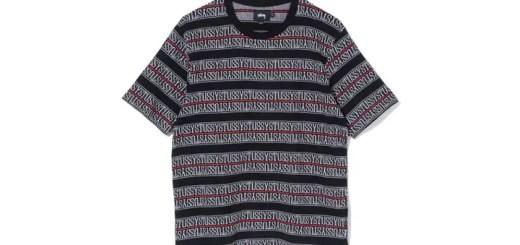 STUSSYからブランドロゴをストライプ状に連ねたジャカード織りのカットソーが発売 (ステューシー)