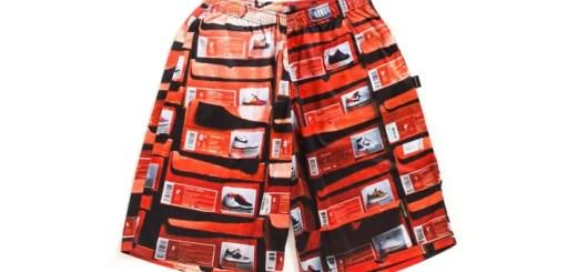 "APPLEBUMから積み重なったオレンジの靴箱を全面に落とし込んだメッシュ素材のショートパンツ「""Orange Kicks Box"" Basketball Mesh Shorts」が発売 (アップルバム)"