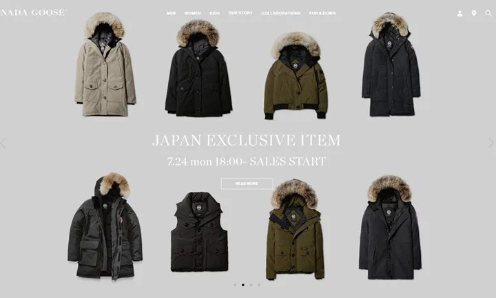 CANADA GOOSE JAPAN EXCLUSIVE ITEMが7/24から展開スタート! (カナダグース 日本限定 アイテム)