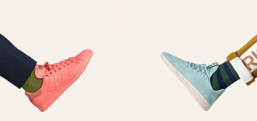 Pharrell Williams x adidas Originals 新作!パステルカラーに彩られたSTANSMITH/Tennis Huが全13モデル 8/10発売 (ファレル・ウィリアムス アディダス オリジナルス スタンスミス ヒューマン レース テニス)