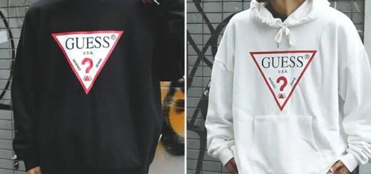 web限定!GUESS × FREAK'S STORE 別注 スーパービッグ ロゴ クルーネックスウェット/プルオーバーパーカーが9月中旬発売 (ゲス フリークスストア)