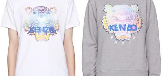 SSENSE限定!マルチカラーの刺繍であしらったKENZO タイガー TEE/スウェットシャツ (ケンゾー)