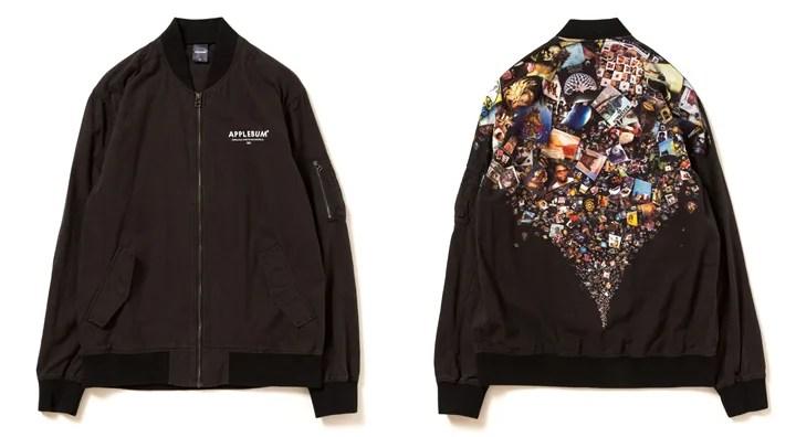 """APPLEBUMからサンプリングのネタとなった様々なジャンルの名盤を背中に落とし込んだMA-1ジャケット「""""Sampling Sports"""" Light MA-1 Jacket」が発売 (アップルバム)"""