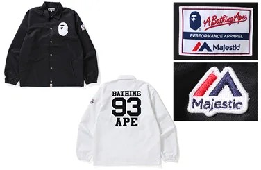 A BATHING APE x MLB サプライヤー「MAJESTIC」とのコラボが9/16発売 (ア ベイシング エイプ マジェスティック)