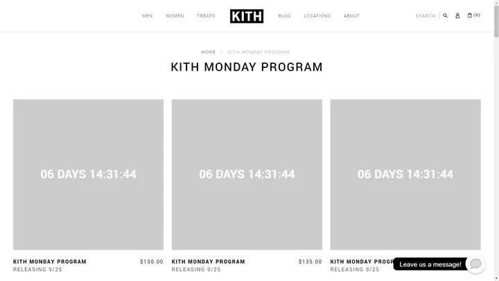 KITH MONDAY PROGRAMが海外9/25発売予定! (キース)