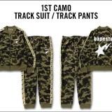 A BATHING APEから1ST CAMOを使用した「TRACK SUIT/TRACK PANTS」が9/23発売! (ア ベイシング エイプ)