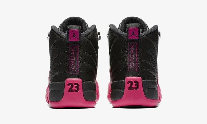"""【オフィシャルイメージ】10/14発売!ナイキ ウィメンズ エア ジョーダン 12 """"ブラック/デッドリー ピンク"""" (NIKE WMNS AIR JORDAN XII """"Black/Deadly Pink"""") [510815-026]"""
