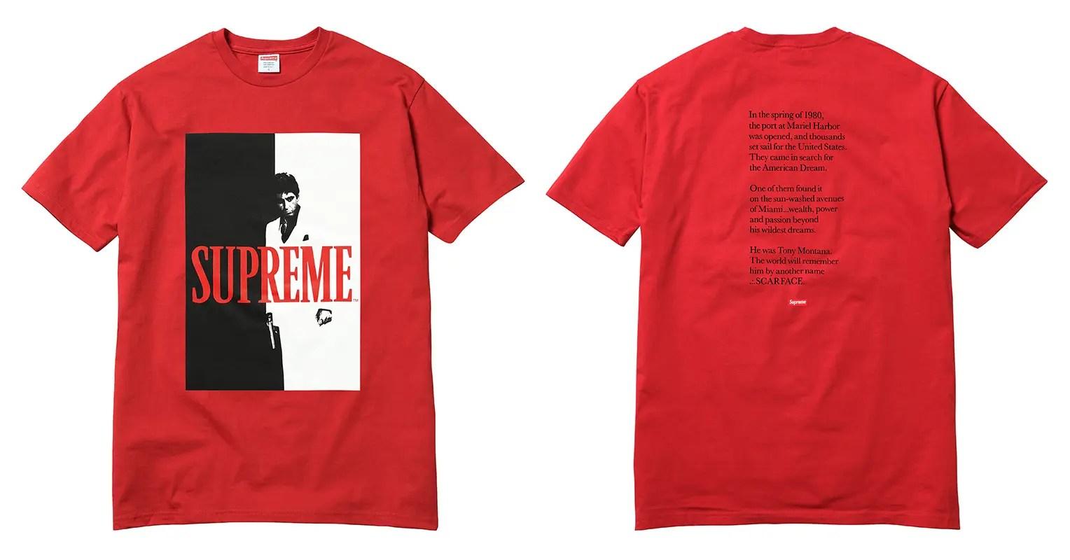 【速報】国内10/14発売!シュプリーム (SUPREME) × スカーフェイス (Scarface) 2017 F/Wコレクション
