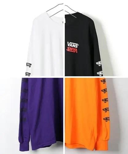 FREAK'S STORE × VANS 別注 リバースロゴ SK8 袖プリント L/S TEEが発売 (フリークスストア バンズ)