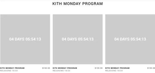 KITH MONDAY PROGRAM 第4弾が海外10/23発売予定! (キース)