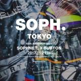 """SOPH 18周年記念コラボ!""""Neon City & Snow Mountain""""をテーマに「BURTON Exclusive for SOPH.」が11/2から発売 (ソフネット バートン)"""