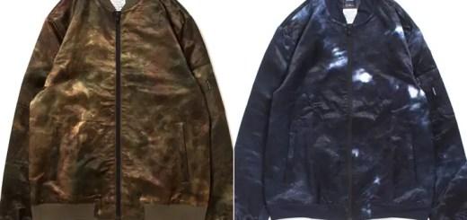 APPLEBUMから伝統的な型染め「注染」を用いた光沢のある独特な染め模様が特徴的なMA-1ジャケットが発売 (アップルバム)