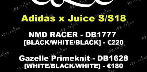 2018年1月展開予定!JUICE × adidas Originals S/S NMD_RACER/GAZELLE PRIMEKNIT {PK} (ジュース アディダス オリジナルス エヌエムディー レーサー/ガゼル プライムニット) [DB1628][DB1777]