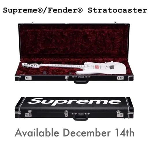 国内12/16発売か!?SUPREME 2017 F/W × FENDER Stratocaster (シュプリーム 2017 秋冬 フェンダー ストラトキャスター)