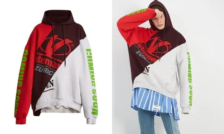 "VETEMENTS 2017-2018 S/S ""Deconstructed hooded sweatshirt"" (ヴェトモン 2018 春夏)"