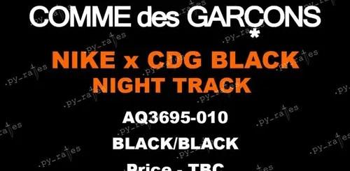 コム デ ギャルソン ブラック × ナイキ ナイト トラック (COMME des GARCONS BLACK NIKE Night Track) [AQ3695-010]