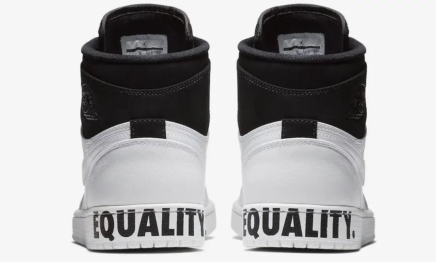 """【オフィシャルイメージ】1/15発売!ナイキ エア ジョーダン 1 レトロ ハイ """"イクオリティ"""" ブラック/ホワイト (NIKE AIR JORDAN RETRO HIGH """"Equality"""" Black/White) [AQ7474-001]"""