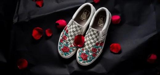 """VANS Slip-On DX """"Rose Embroidery"""" Marshmallow (バンズ スリッポン """"ローズ エンブロイダリー"""" マッシュルーム)"""