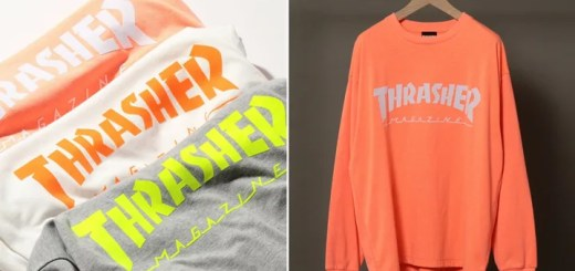 BEAUTY&YOUTH × THRASHER 別注!LOGO LONG SLEEVE TEE 3カラーが2月下旬発売 (ビューティアンドユース スラッシャー)