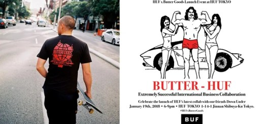 HUF × BUTTER GOODSが1/19から展開 (ハフ バターグッズ)