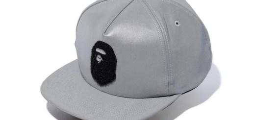A BATHING APEからリフレクティブ素材を使用した「APE HEAD REFLECTOR SNAP BACK CAP」が1/27発売 (ア ベイシング エイプ)