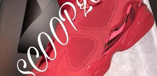 """2018年2月発売予定!ナイキ ウィメンズ エア ジョーダン 8 """"バレンタイン-ジム レッド"""" 2018 (NIKE WMNS AIR JORDAN 8 """"Valentine- Gym Red"""" 2018) [AQ2449-614]"""
