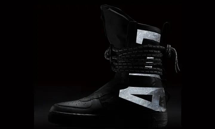 """【オフィシャルイメージ】2/2発売!ナイキ スペシャル フィールド エア フォース 1 ハイ """"ブラック/ダーク グレー"""" (NIKE SPECIAL FIELD AIR FORCE 1 {SFAF-1} HIGH """"Black/Dark Grey"""") [AA1128-002]"""